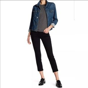 Anthro Level 99 Lily Crop Skinny Straight Jeans 29